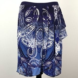 Peter Nygard skirt size 10 tapestry faux wrap